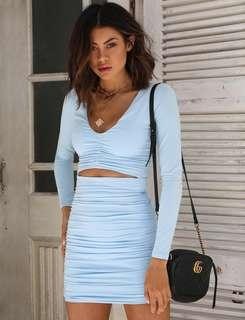 RENT tigermist 'sian dress' baby blue