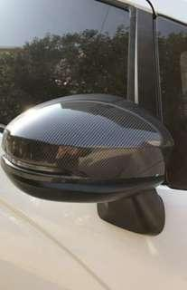 🚚 High quality carbon fibre gloss black side mirror covers for Honda fit jazz gk5