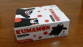 KUMAMON密扣式玻璃保鮮盒950ml(長方大)