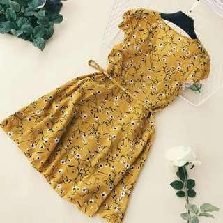 Dress - yellow