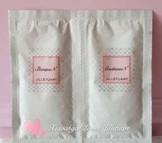 Authentic Jillstuart 2 to 3 times usage convenient travelling try out shampoo N and conditioner N sachet