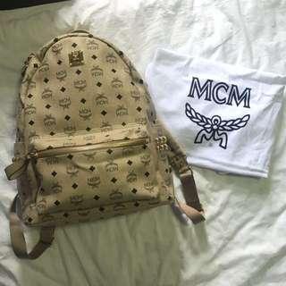 MCM Beige Stark Bagpack
