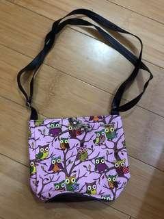owl pink bag