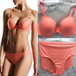 Dorina 🔥 Sabrina Super Soft Coral 3/4 T-shirt bra set (32/70 A, 38/85 B/C) S/M/L/XL/XXL