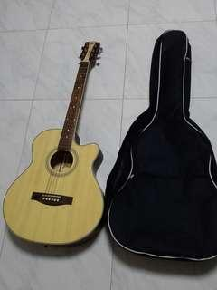 Brand New Jerubbaal Acoustic Guitar With Brand New Padded Guitar Bag