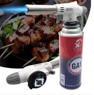 Flame Gas Torch Flame Thrower Ignite Camping BBQ Soldering Welding Refillable - intl