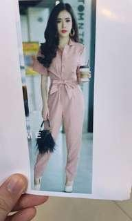 Jumpsuit pink all size