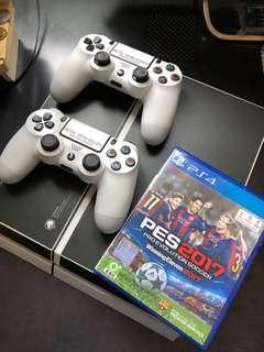 新淨二手PS4 500gb連兩手掣