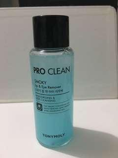 TONYMOLY Pro Clean Smoky Lip & Eye Remover 60ml