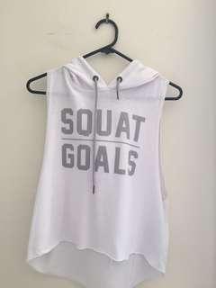 Workout singlet hoodie