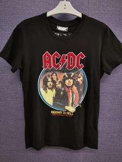 🚚 BNWT Cotton On AC/DC Official Licenced Highway to Hell Premium Graphic Tee with Sequins