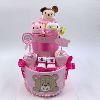 🚚 Tsum Tsum 2-tier Baby Diapers Cake
