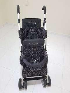 🚚 Twin Stroller Used Kinderwagon