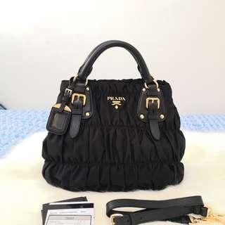 cb89b1fb0319 ON HAND  Authentic PRADA Black Gaufre Tessuto Nylon Shopping Tote Bag BN1792