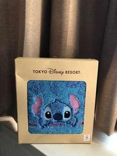 🚚 日本迪士尼Disney史迪奇藍色扶桑花大浴巾