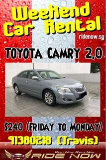 $240 Toyota Camry 2.0A Weekend Car Rental Promotion