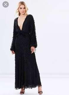 Stevie May Badlands black maxi dress rrp $380 Sz Small or 8-10