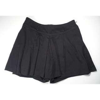 abito專櫃(M)褲裙 黑色襬褶 300