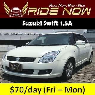 Suzuki Swift 1.5A - Hatchback Cheap and P Plate Friendly Car Rental