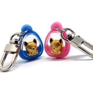 999 Pure Gold Doggie Keychain