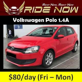 Volkswagen Polo 1.4A - Hatchback Cheap and P plate Friendly Car Rental