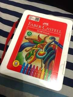 CRAYON FABER-CASTELL 24 OIL PASTELS