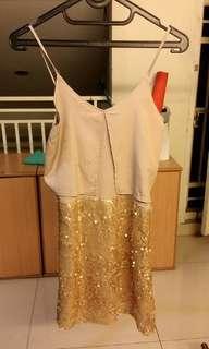 Dress Gold Sparkle
