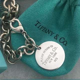 🚚 真品Tiffany&co 圓牌手鍊 8成新