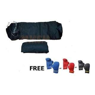 Punching bags ( unfilled) with free Gloves