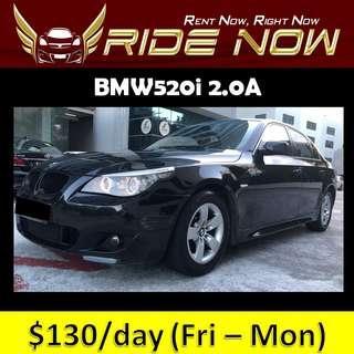 BMW520i 2.0A Cheap and P plate Friendly Car Rental