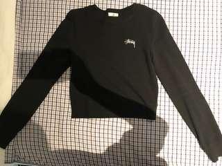 Stussy cotton cropped sweater