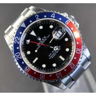 Pre Owned Rolex GMT Master II 16710 Rectangular Dial