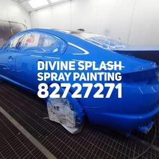 Spray Paint Dents & Scratch