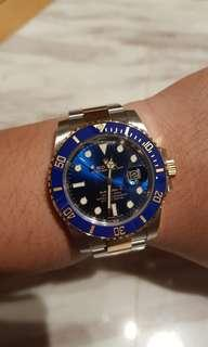 [NOT FOR SALE] Rolex Blue Submariner 116613LB 18K Half Gold