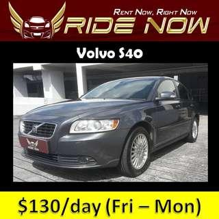 Volvo S40 2.0A Cheap and P Plate Friendly Car Rental