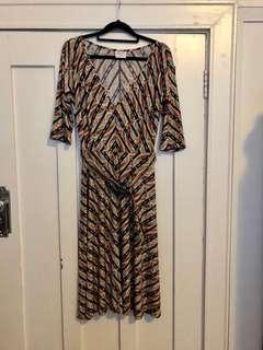 Leona Edmiston stretch jersey dress size 2