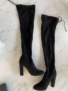 $320 Tony Bianco over the knee high heel boots