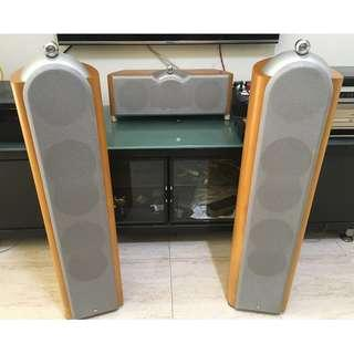 KEF Reference 203 Floorstanding Speakers + KEF Reference 202c Center Channel speaker, Made in England (8Ohms, 200Watts) Price is negotiable if do a fast deal