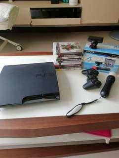 Sony Playstation PS 3 Slim w PS Move and games