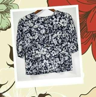 Navy Flower Shirt