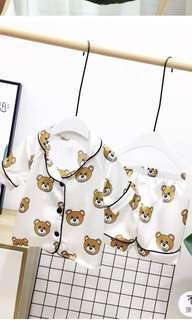 🚚 寶寶睡衣/熊熊睡衣/絲質睡衣(三色各尺寸