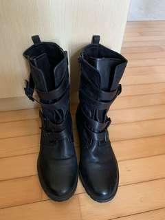 🚚 Leather Boots -Kenneth Cole