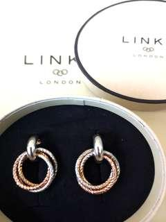 Aurora Cluster Rose Gold/Sterling Silver Earrings Links Of London