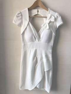 Korea supercute one piece white dress