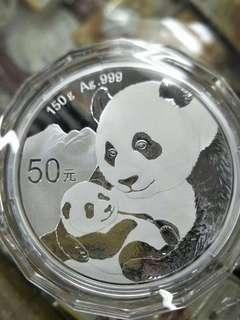 5oz chinese silver panda 2019