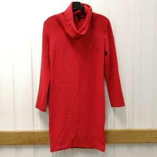 🚚 Designers Long Sleeve Dress Gucci Cut-Label Office OL Causual Formal Wear Red color