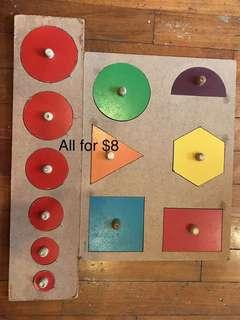 Wooden Puzzles set for beginners