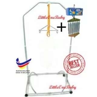 Baby Spring Cot Stand With Polo Electronic Baby Cradle / Automatic Baby Cradle