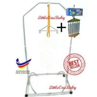 Baby Spring Cot Stand With Polo Electronic Baby Cradle