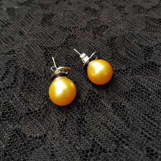 RUSH! South Sea Pearl Earrings in Gold